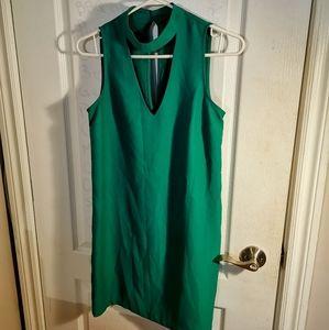 Dynamite Green Shift Dress with Cutout